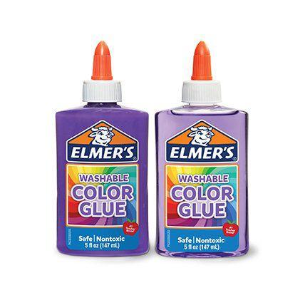 washable color glue in purple