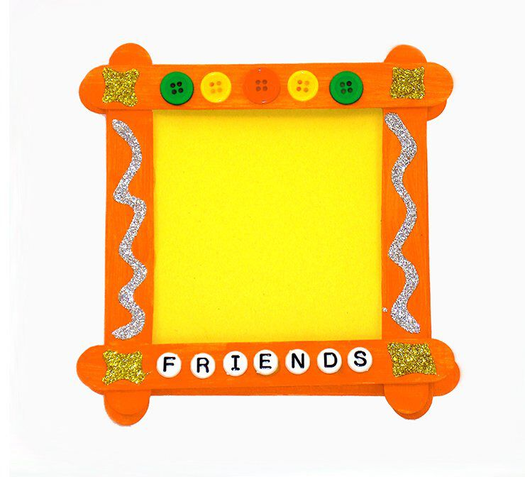 Craft stick picture frame
